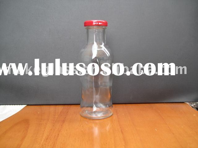glass bottle/glass milk&juice bottle with metal lid