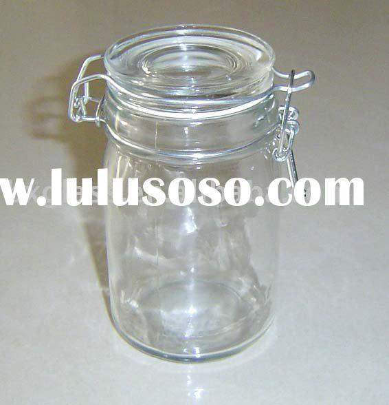 glass food storage jars