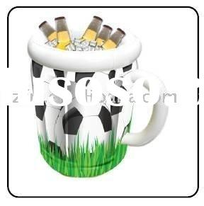 inflatable beer mug cooler,Inflatable soccer ball beer mug cooler,inflatable soccer ice bucket,infla
