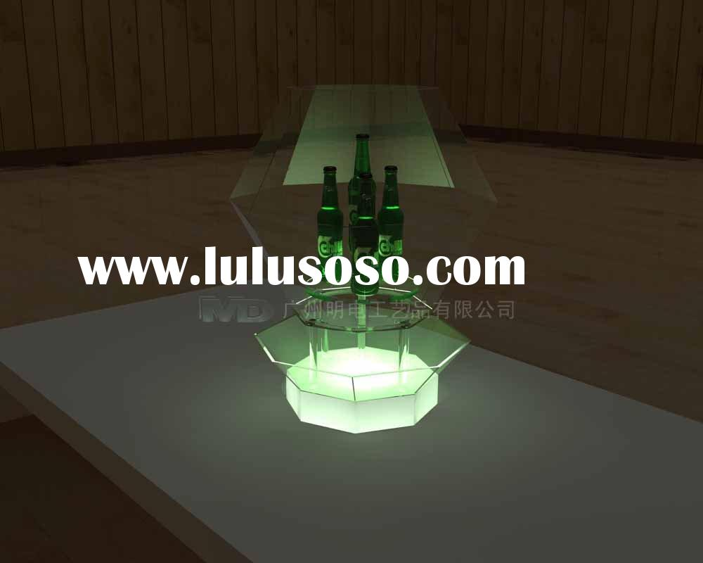 led wine bottle display/acrylic wine rack/beer display stand/bottle light/liquor bottle holder/produ
