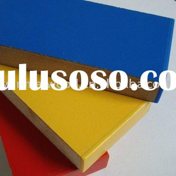 mdf e1 board 15mm with color melamine and pvc edge banding