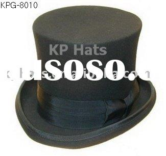 men's wool felt top hat