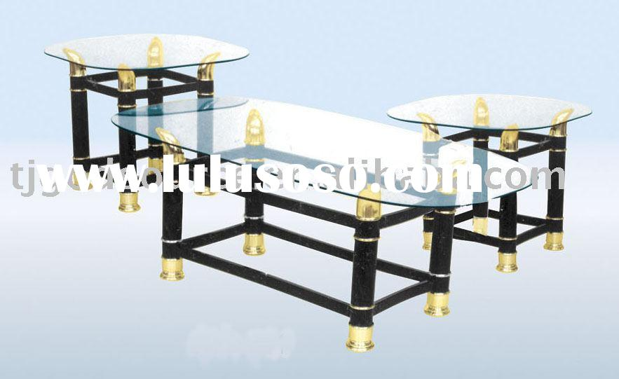 metal and glass coffee table GS-20049
