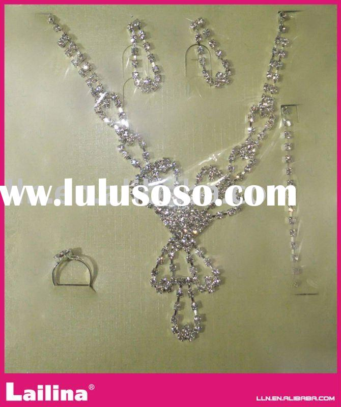 new style wedding jewelry set bride dress cubic zirconia necklace set TL033