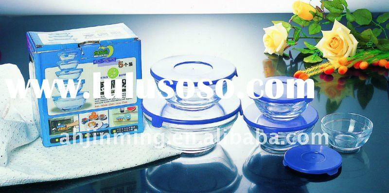 preservative glass bowl sets(with lid)