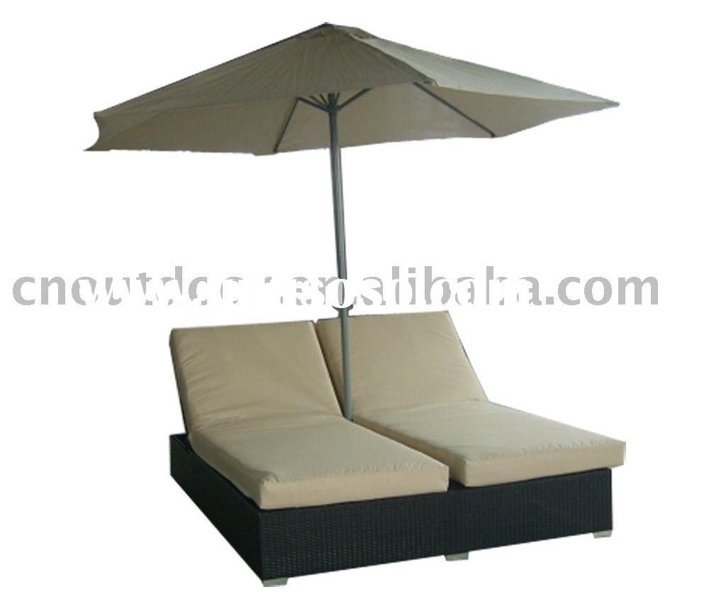 rattan beach bed lounge