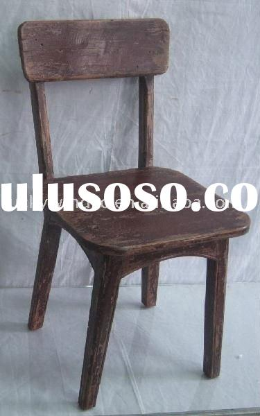 shabby chic old wooden chairs