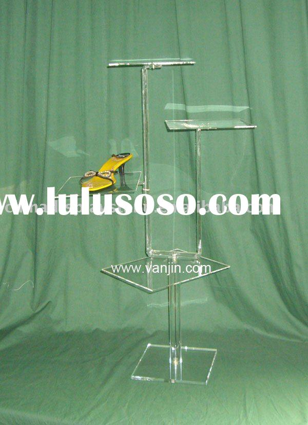shoe display rack , 4 ways shoe display stand , shoe shelf ,store display,counter shoe display