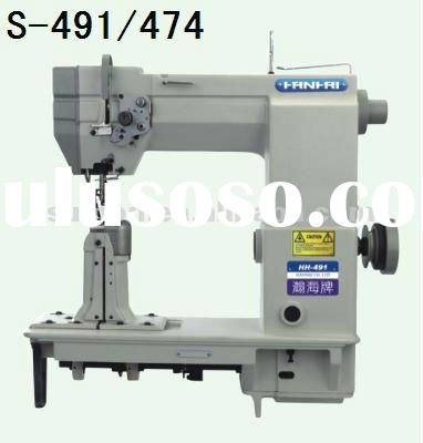 single/double needle drive roller preser post-bed lockstitch sewing machine