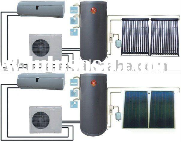 solar air conditioner solar water heater air source heat pump