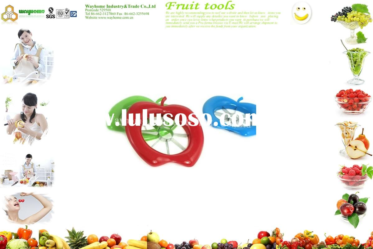 stainless steel apple slicer,apple corer,apple cutter,apple divider,apple splitter,pear slicer,fruit