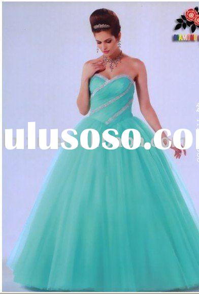 sweet heart light blue strapless prom dress