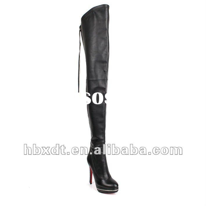 thigh high women high heel boots,leather boots