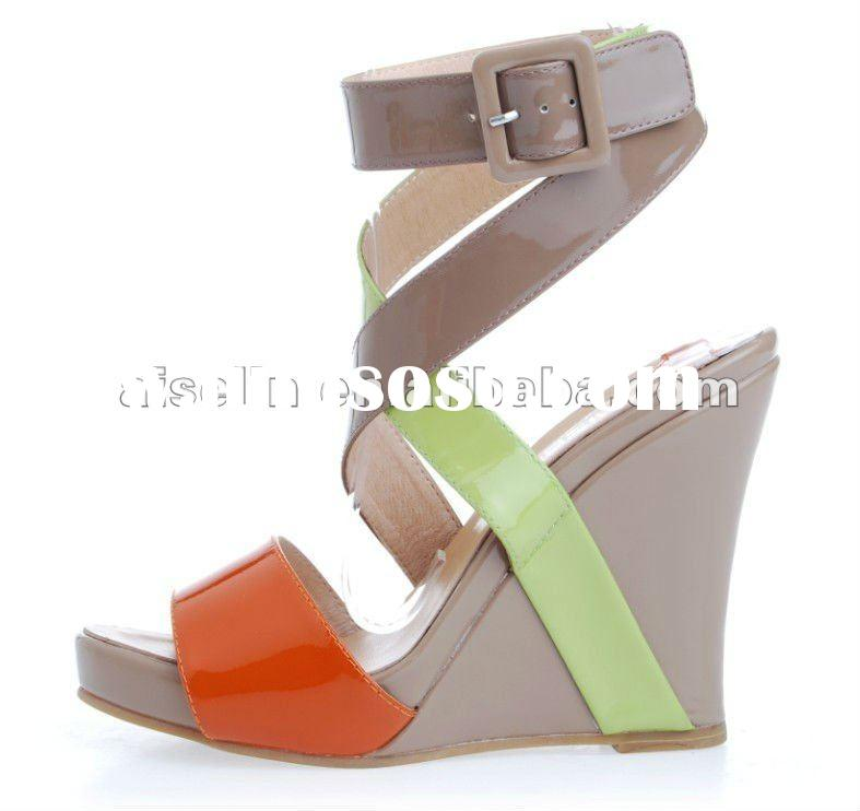 wedges sandal shoes for 2012 new design
