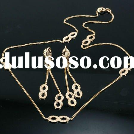 wholesale 18k gold plated jewelry set