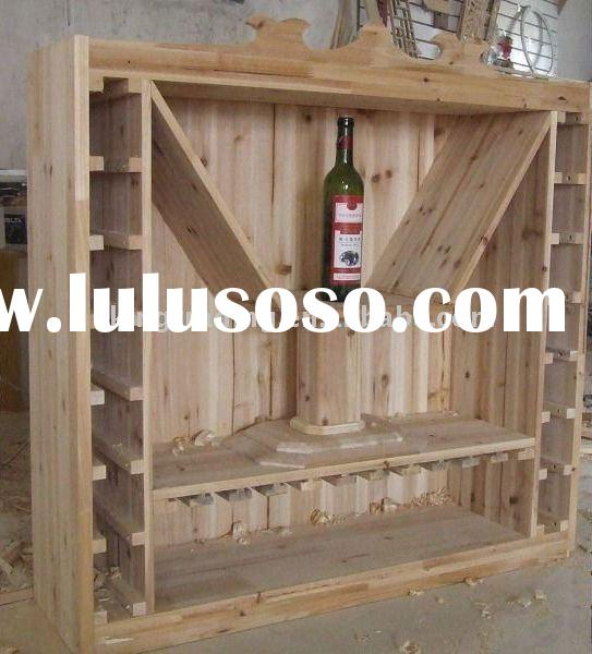 wood wine display stand rack shelf