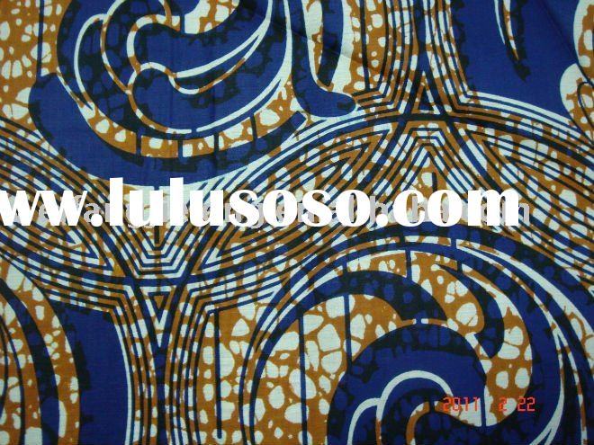 100% cotton african wax printed fabric