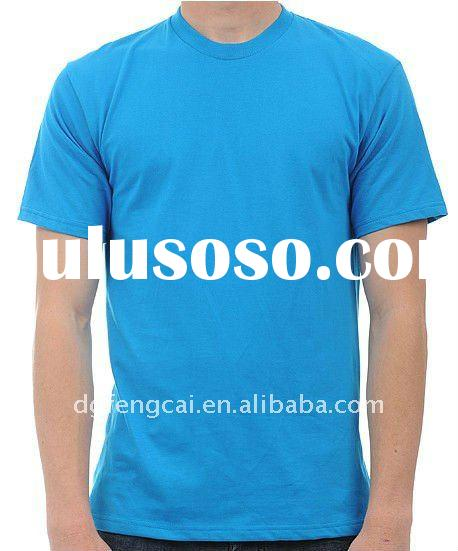 100% cotton mens short sleeve blank t shirt