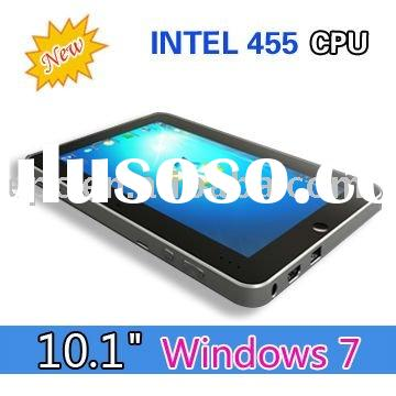 10.1 inch tablet pc win7 intel N455 Atom 1.66GHz 32GB SSD/2GB RAM 3G Notebook MID
