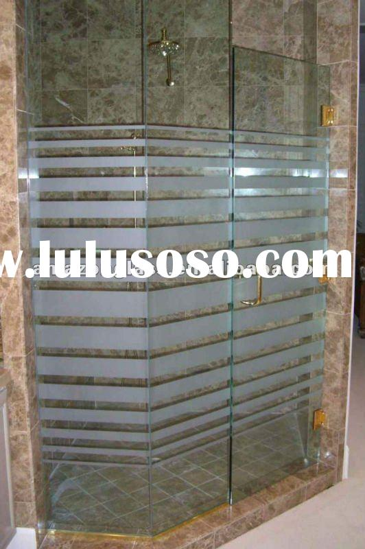 10mm tempered decorative shower door glass