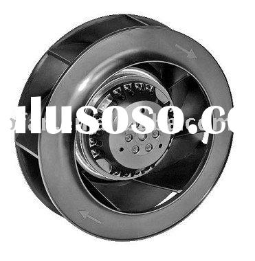 190mm AC backward curved centrifugal fan with external rotor motor