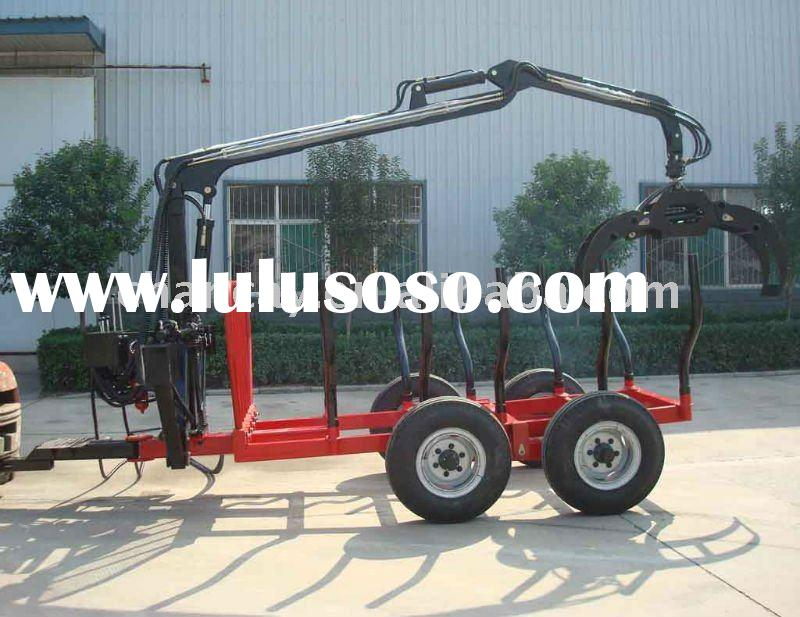 1T Log loader Trailer with hydraulic Crane for tractor or ATV