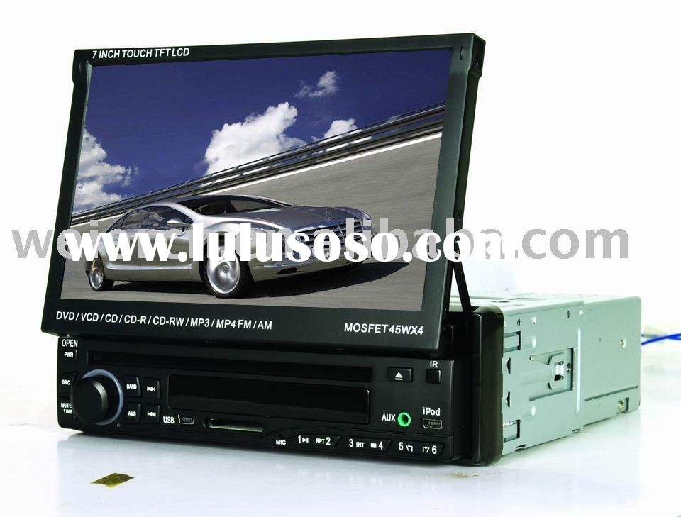 1 DIN in dash car DVD player with GPS/ touch screen/TV/IPOD/RDS/ Bluetooth/ USB port