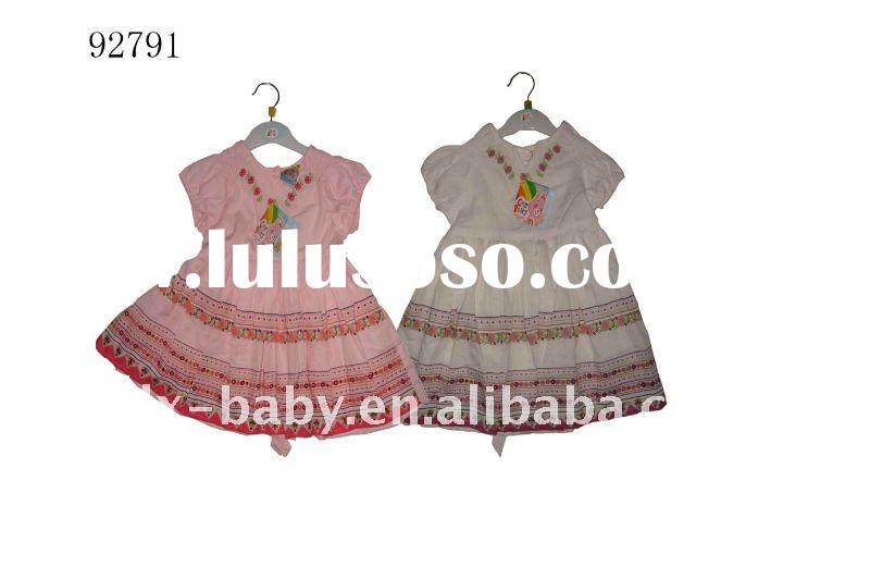 2011 100% cotton woven fashion baby frock