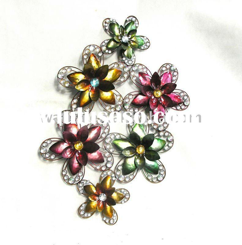 2011 Metal Flower Wall Plaque,metal craft,metal mirror home decoration,metal clothes holder