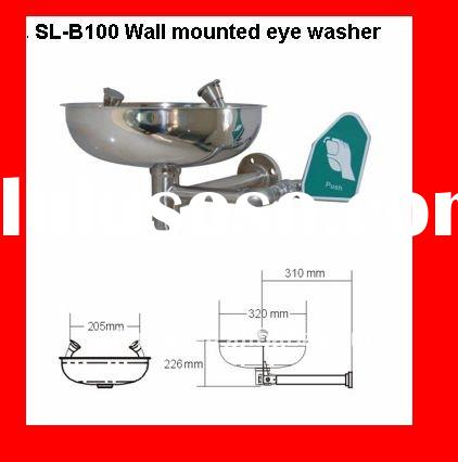 2011 New Arrival Stainless Steel Wall mounted Emergency Eye Wash shower Stations