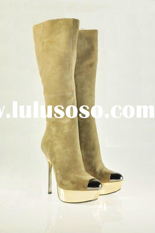 2011 latest hot sell girls women high heels long boots