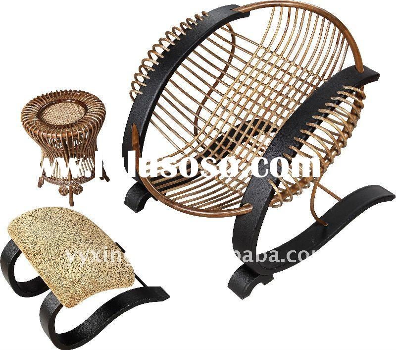 2011 new round lounge chair with stool tea table