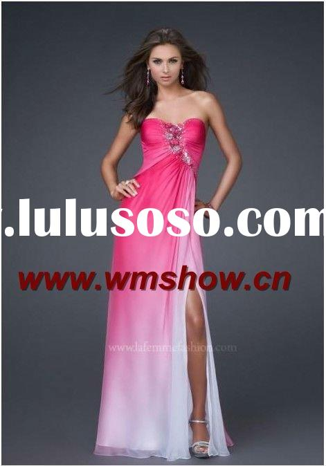 2012 Beautiful Hot Sale Sweetheart Beaded Long Red Prom Dresses
