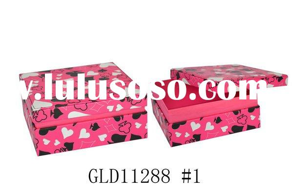 2012 Hot Sale Leather Jewelry Box with a mirror