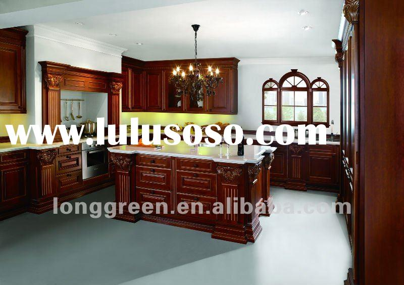 2012 New Product Luxury American Style Cherry Wood Kitchen Cabinets