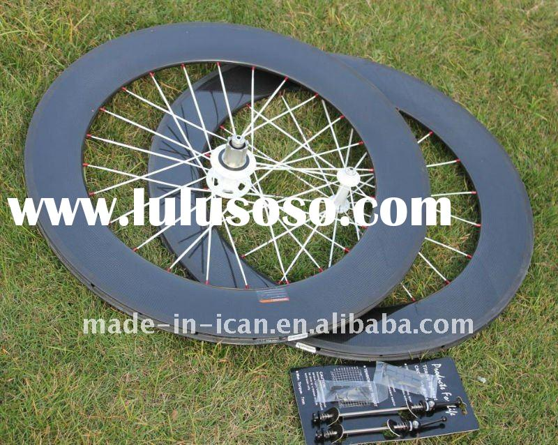 2012 fashionable road racing wheelset carbon road tubular bicycle wheels