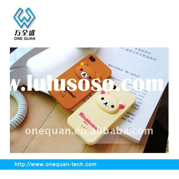 2012 new design of silicone cell phone cover for i-phone in factory price