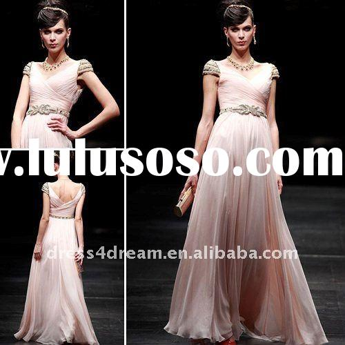 2012 women fashion without dress with beaded and pleated