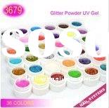 36 Colors Glitter Powder UV Gel Nail art Set