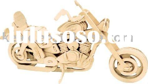 3D Wooden Motorcycle Puzzle