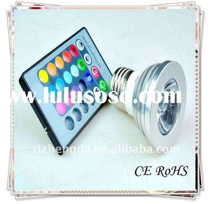 3W E27 Remote control RGB led spotlight lamp