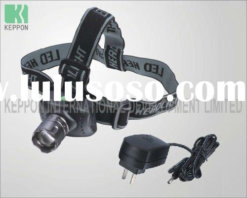 3W LED Rechargeable Headlamp with Zoom Lens
