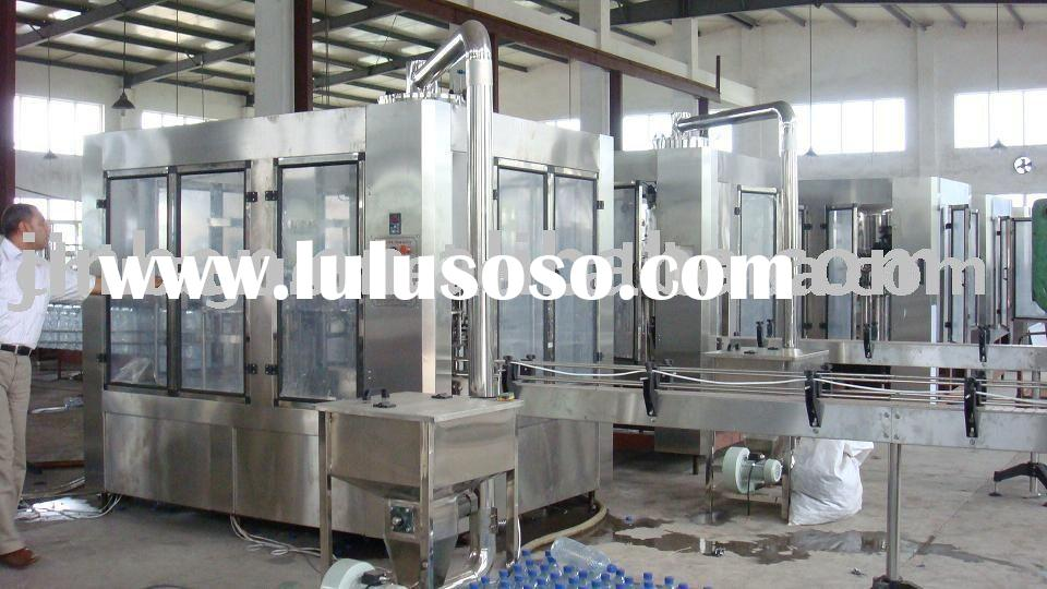 3-in-1 monobloc filling machine for water and juice