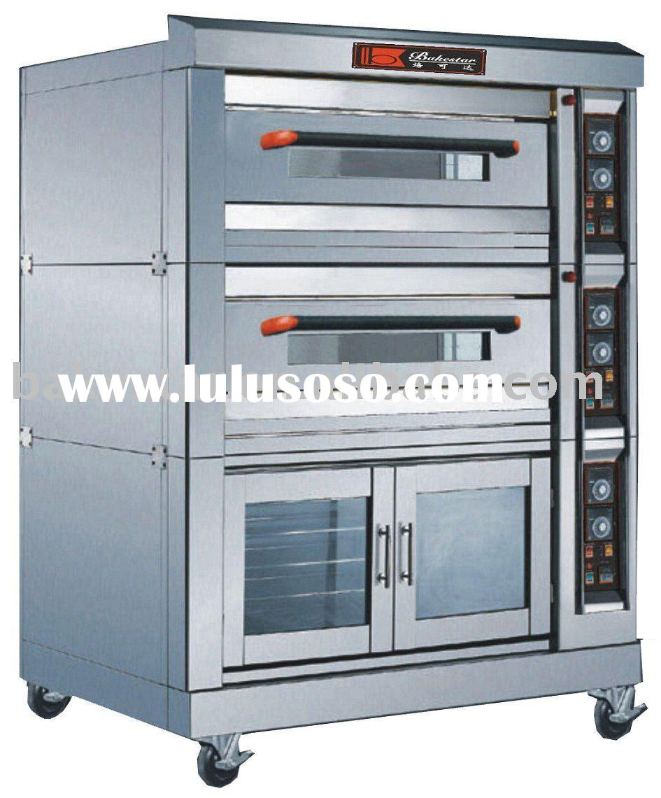 3 layers stainless steel luxurious electric oven (deck oven)with fermenting function