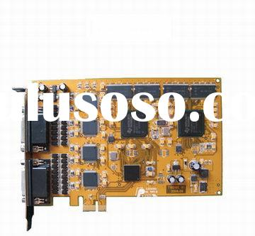4, 8, 16, 32, 64 Channel H.264 Compression DVR Card, CCTV video card
