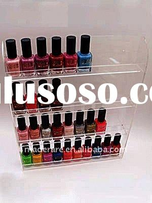 4 tier clear acrylic nail-polish display rack,acrylic makeup display