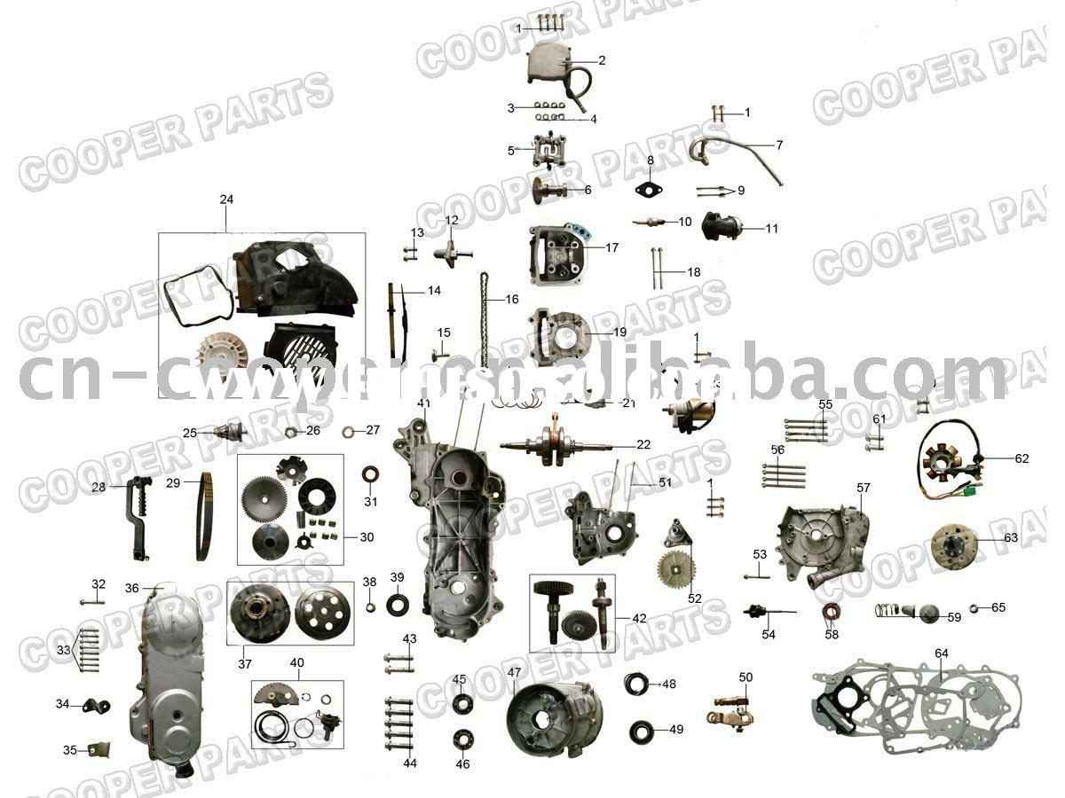 50cc Scooter Engine Parts on 50cc Scooter Engine Diagram