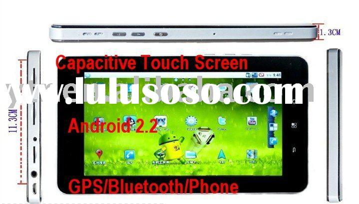 7 Inch Capacitive Screen Android 2.2 WIFI Tablet PC Dual Sim Cell Phone GPS Bluetooth