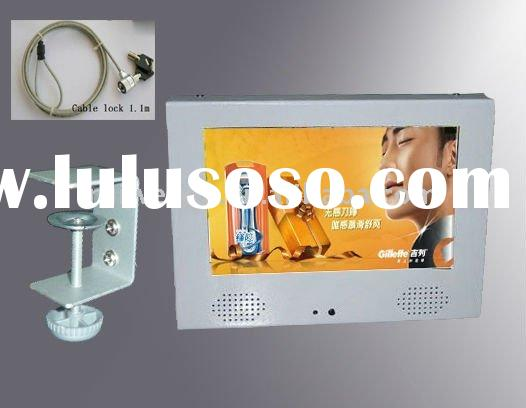 7 inch lcd advertising player with shelf bracket