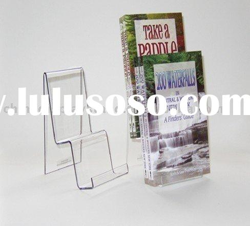 Acrylic magazine rack,acrylic book display stand